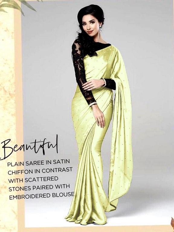 c0fb744f9b Designer Satin Silk Saree – Priti Trendz online fashion store